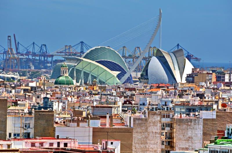 Tejados de Valencia imagenes de archivo
