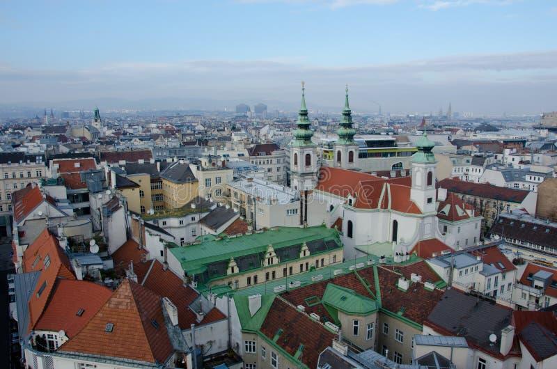 Tejados de Viena foto de archivo