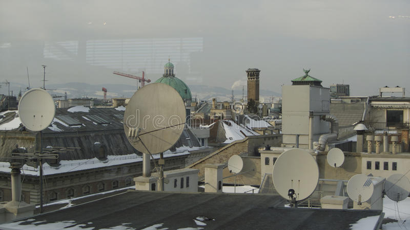 Tejados de Viena foto de archivo libre de regalías