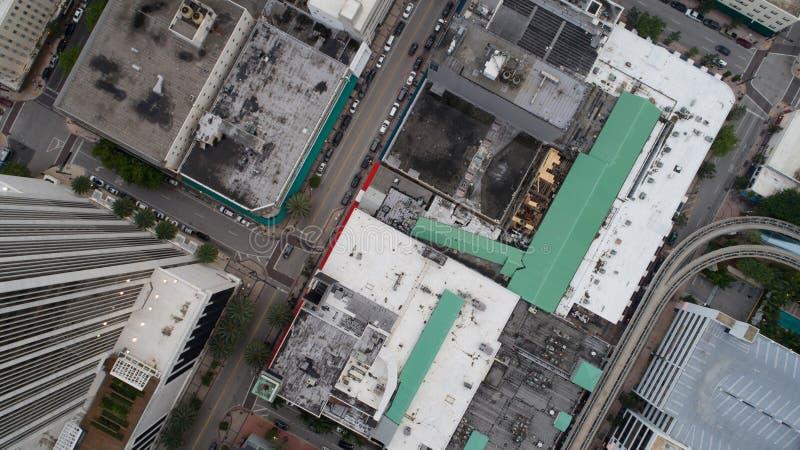 Tejados del edificio de la visión aérea fotos de archivo