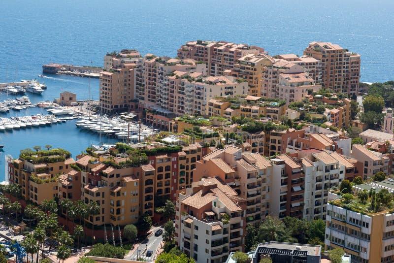 Tejados del edificio de Mónaco fotos de archivo libres de regalías