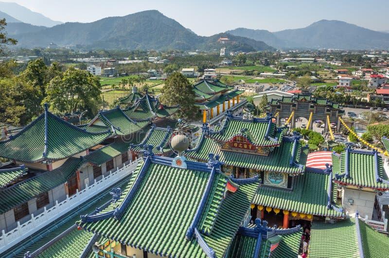 Tejados del templo famoso de Baohu Dimu imágenes de archivo libres de regalías