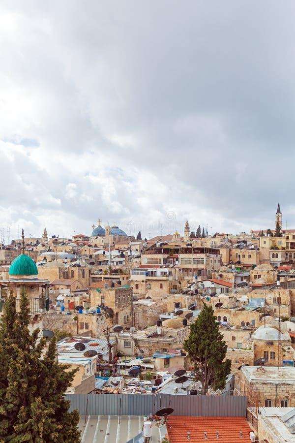 Tejados viejos de la ciudad de Jerusalén fotos de archivo