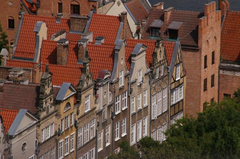 Tejados y edificio de la ciudad vieja imagenes de archivo