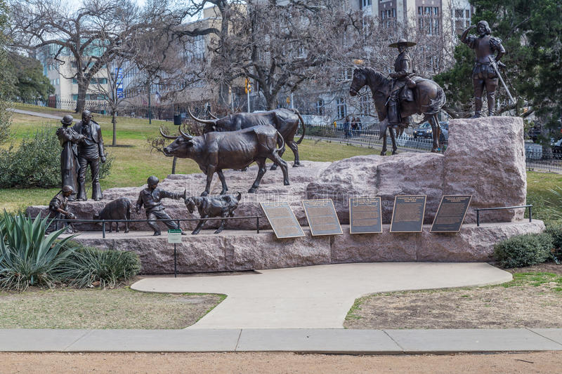 Tejano Monument at Texas State Capitol grounds in Austin, TX royalty free stock photo