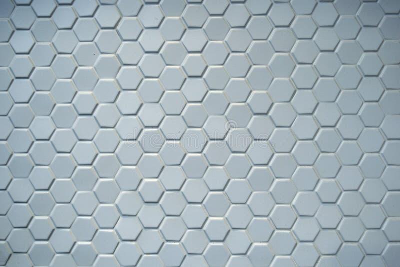 Tejas azules de cerámica hexagonales imágenes de archivo libres de regalías