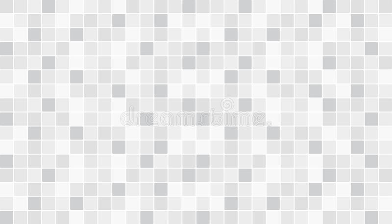 Tejas de cerámica blancas y grises del piso y de la pared Fondo abstracto del vector Textura de mosaico geométrica Modelo inconsú ilustración del vector