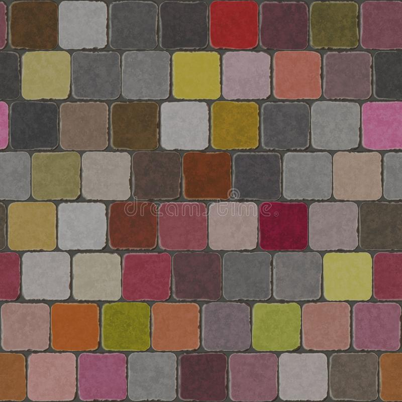 Tejas de la pared de la decoración del fondo libre illustration