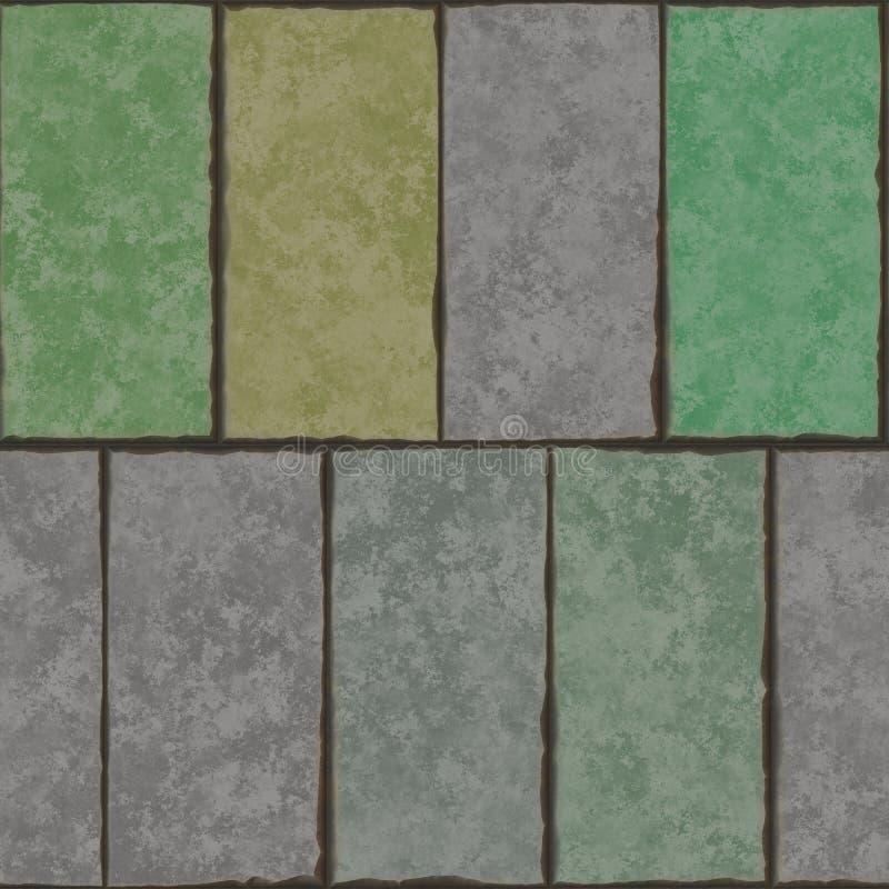 Tejas de la pared de la decoración del fondo stock de ilustración