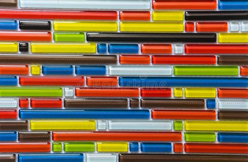 Tejas de mosaico del color de la mezcla para el fondo de la textura fotos de archivo
