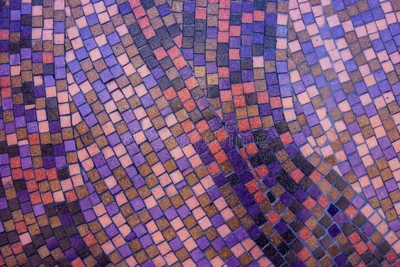 Tejas de mosaico del extracto colorido para el fondo fotografía de archivo