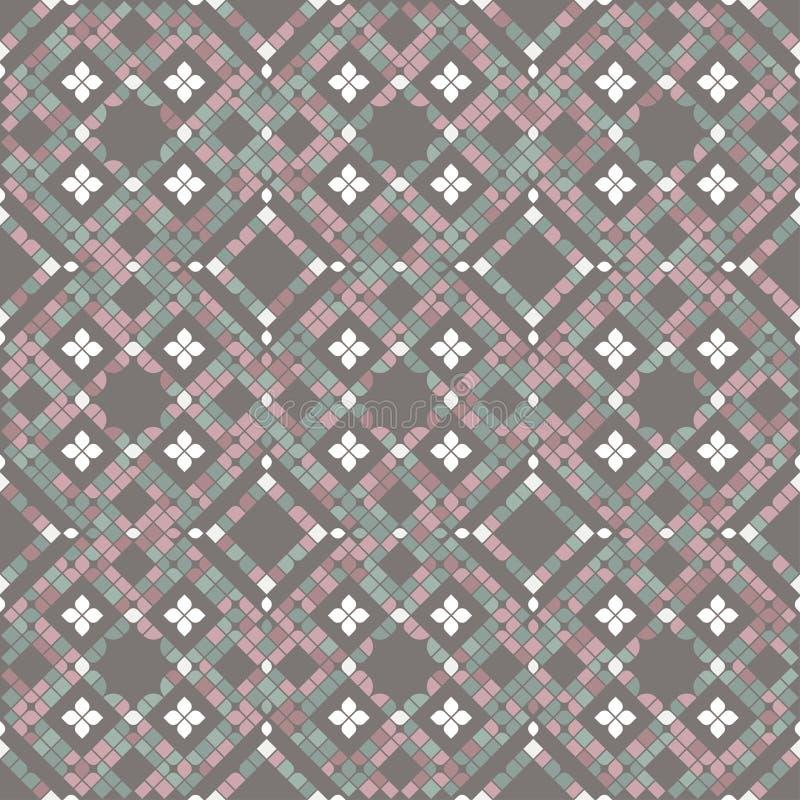 Tejas de mosaico del piso en colores en colores pastel ilustración del vector