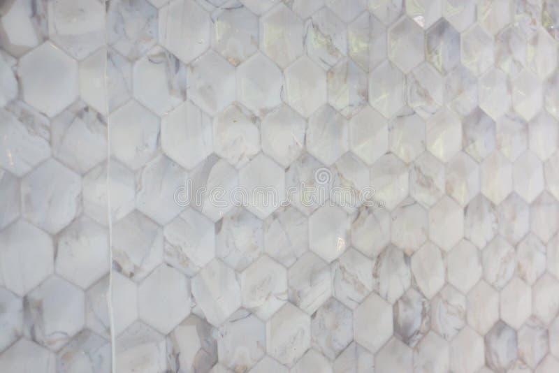 Tejas de mosaico texturizadas mármol abstracto imagenes de archivo