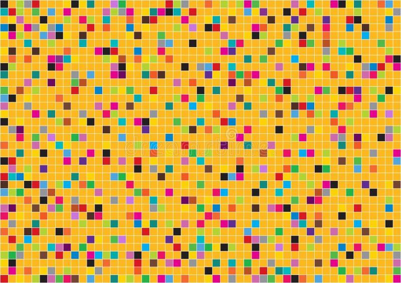 Tejas de mosaico y líneas abstractas fondo libre illustration