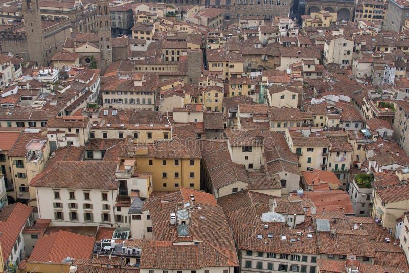 Tejas de tejado de Florencia en Toscana foto de archivo