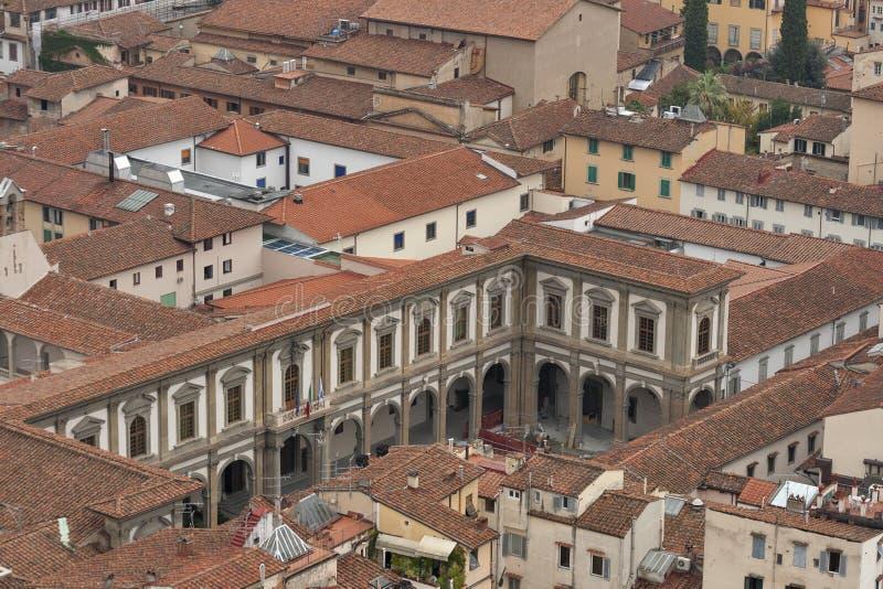 Tejas de tejado de Florencia en Toscana imagen de archivo
