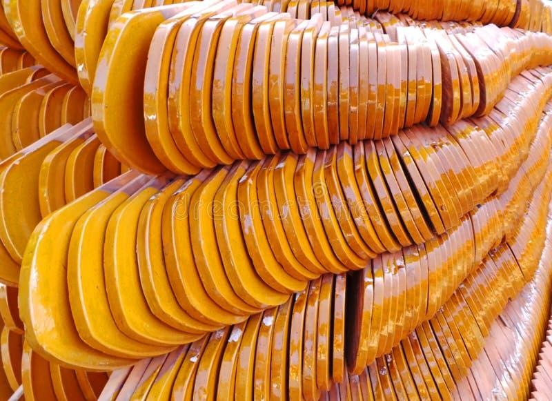 Tejas de tejado del templo - Tailandia fotografía de archivo libre de regalías