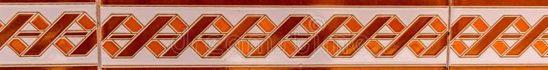 Tejas decorativas españolas ornamentales tradicionales, cerami original fotografía de archivo libre de regalías