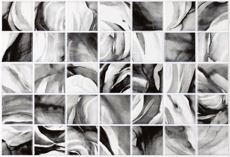Tejas grises del fondo de mármol, mosaico imagenes de archivo