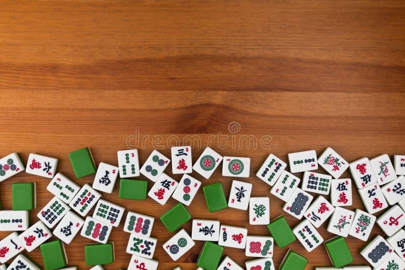 Tejas para el mahjong Espacio vacío arriba fotos de archivo