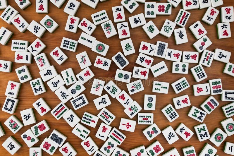 Tejas para el mahjong Ningún lugar vacío imágenes de archivo libres de regalías