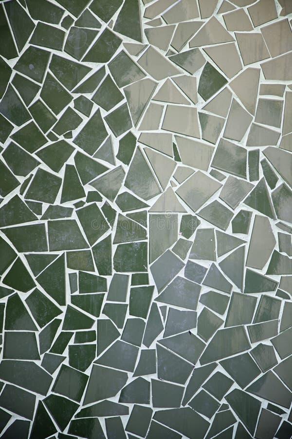 Tejas verdes del mosaico foto de archivo