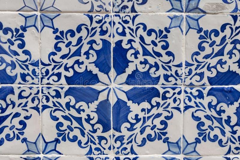 Tejas viejas de Lisboa, azulejos imagen de archivo libre de regalías