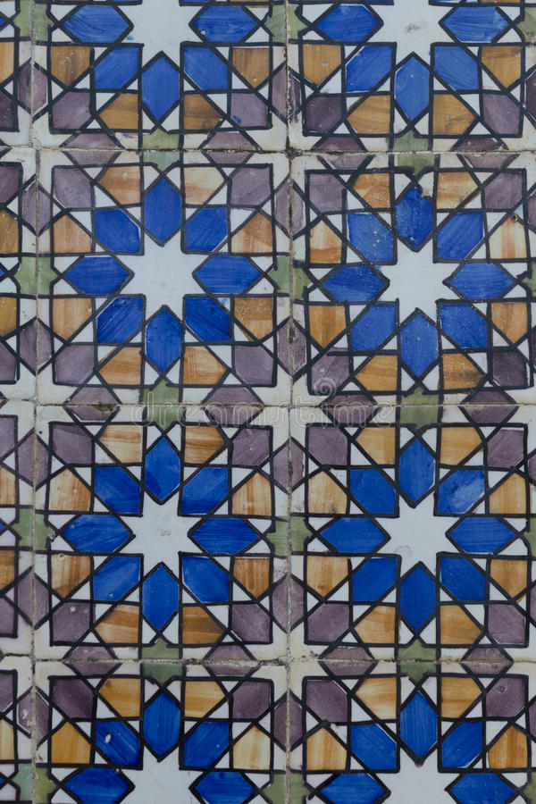 Tejas viejas de Lisboa, azulejos fotografía de archivo