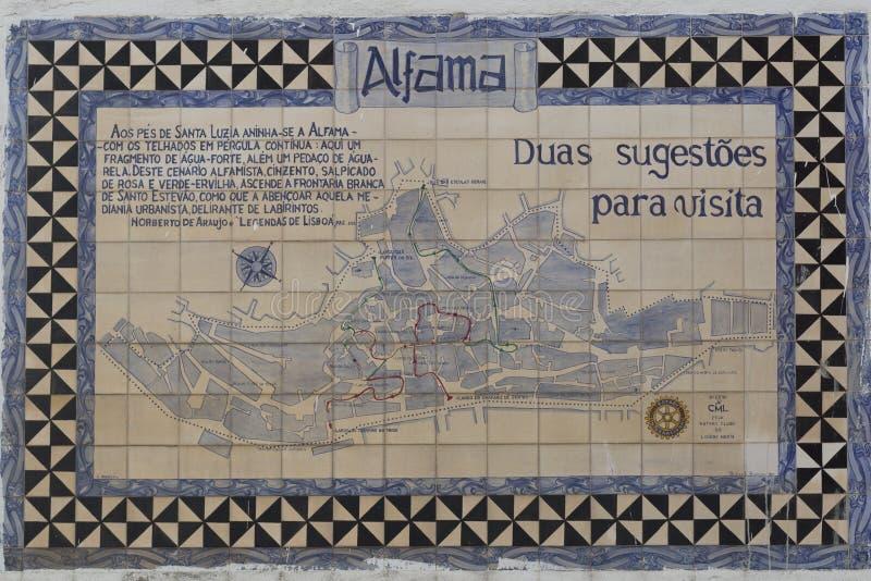 Tejas viejas de Lisboa, azulejos imagenes de archivo
