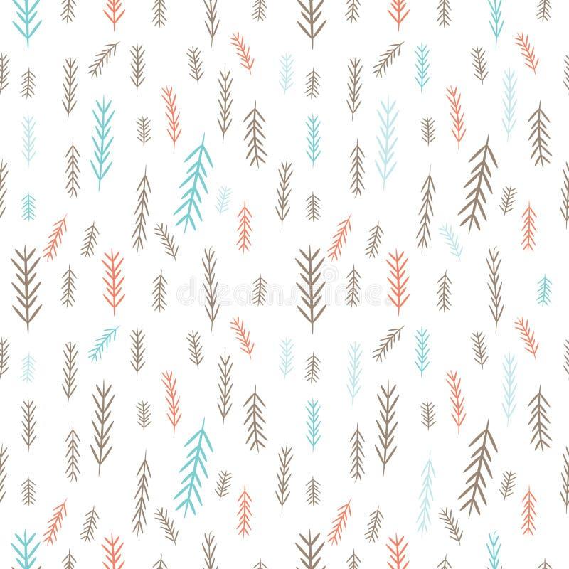 Teje el fondo de la Navidad con las ramitas azules y rosadas del pino-árbol ¡Feliz Navidad! libre illustration