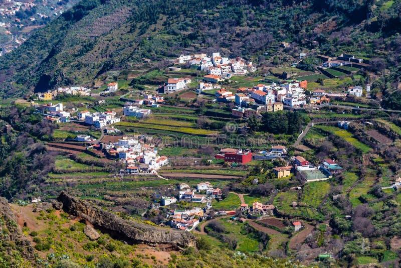 Tejeda by - Gran Canaria, kanariefågelö, Spanien fotografering för bildbyråer