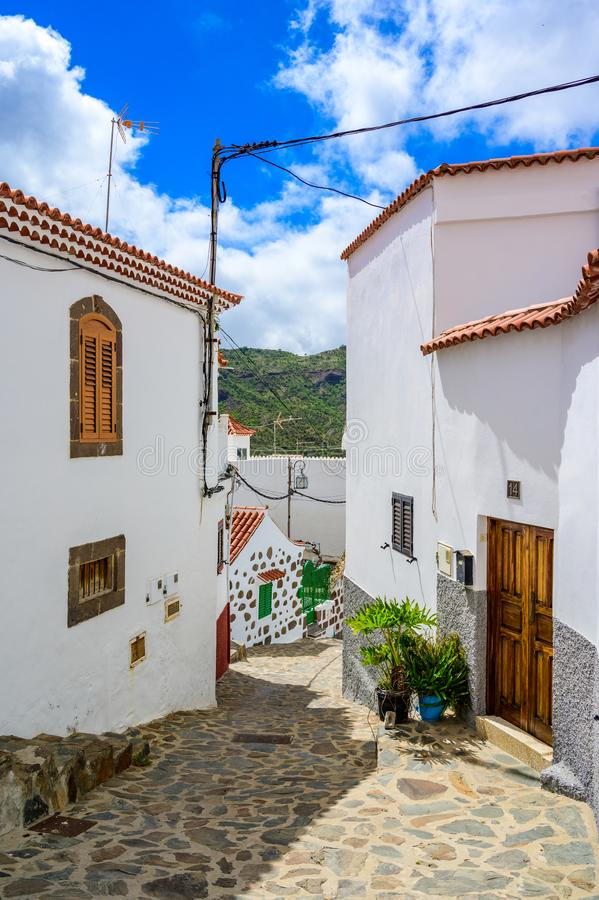 Free Tejeda - Village In Mountain Scenery In Gran Canaria - Beautiful Canarian Island Of Spain Stock Image - 160728811