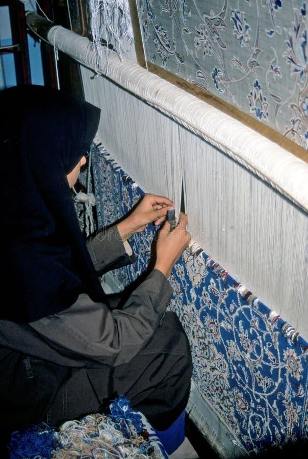 Tejedor de la alfombra foto de archivo