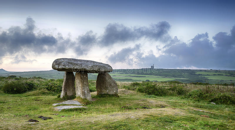 Tejo de Lanyon un dolmen neolítico foto de archivo libre de regalías