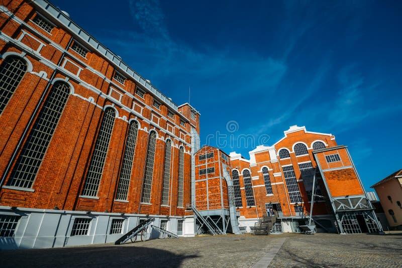 Tejo Power Station in Lissabon, Portugal, een vroegere thermo-elektrische elektrische centrale die momenteel gastheren het Elektr royalty-vrije stock foto