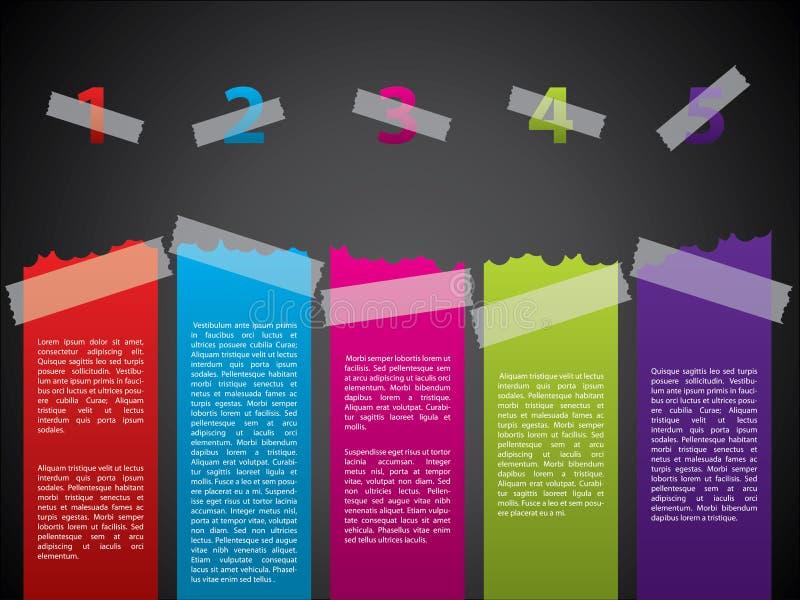 Tejpad etikettset vektor illustrationer