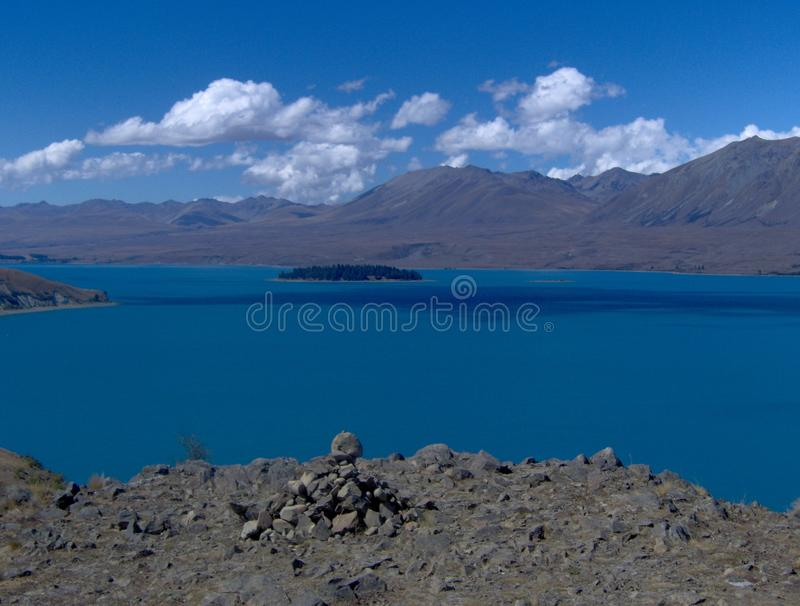 tekapo озера стоковые фото