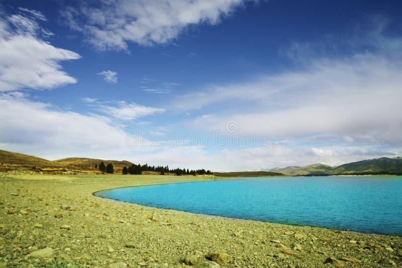 Tekapo azul do lago imagem de stock