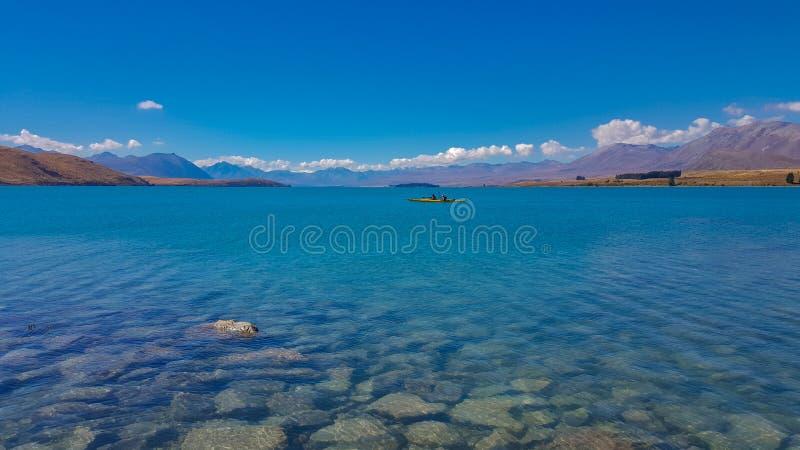 Tekapo del lago en Nueva Zelandia fotografía de archivo libre de regalías
