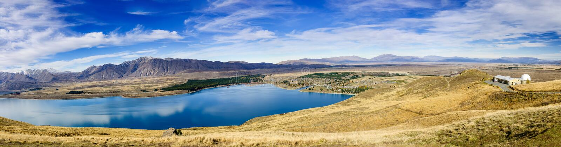 Tekapo sjö, Nya Zeeland arkivbild