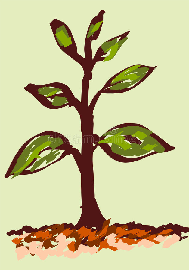 Teken 1 van de boom vector illustratie