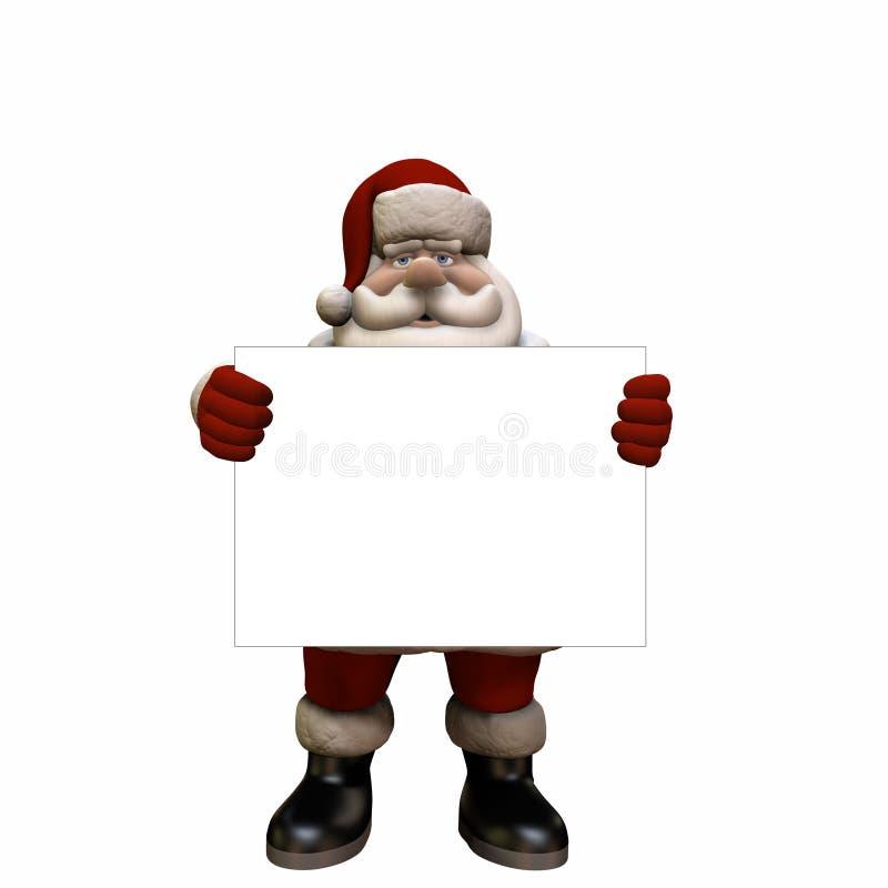 Teken 1 van de kerstman stock illustratie