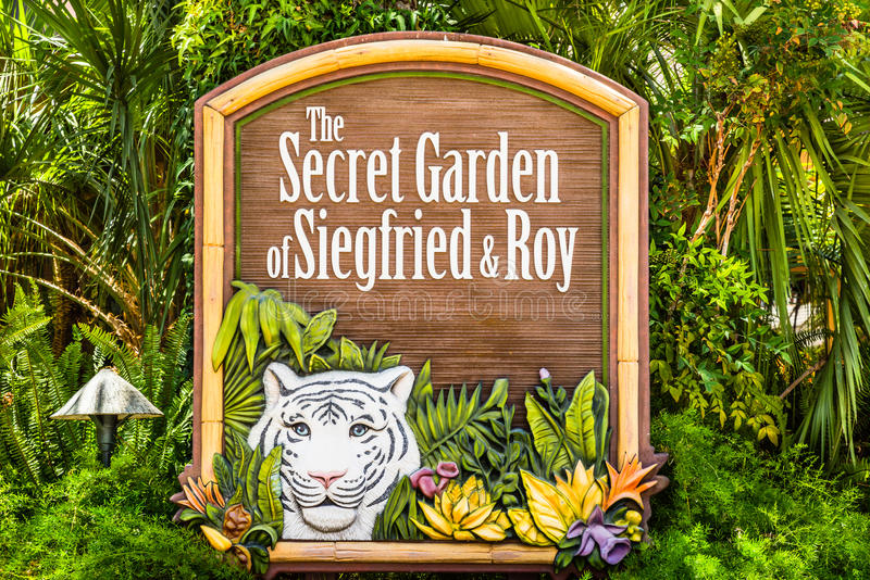 Teken aan Siegfried en Roy Secret Garden stock fotografie