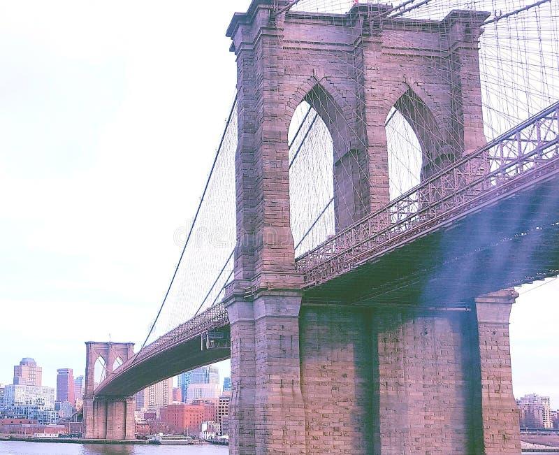 Teken, Bakstenen, dichtbij de Brug van Brooklyn stock fotografie