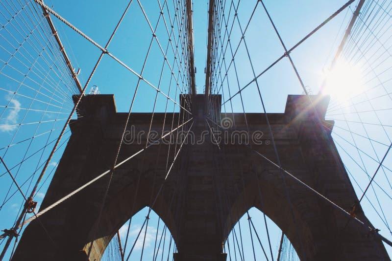 Teken, Bakstenen, dichtbij de Brug van Brooklyn royalty-vrije stock foto's