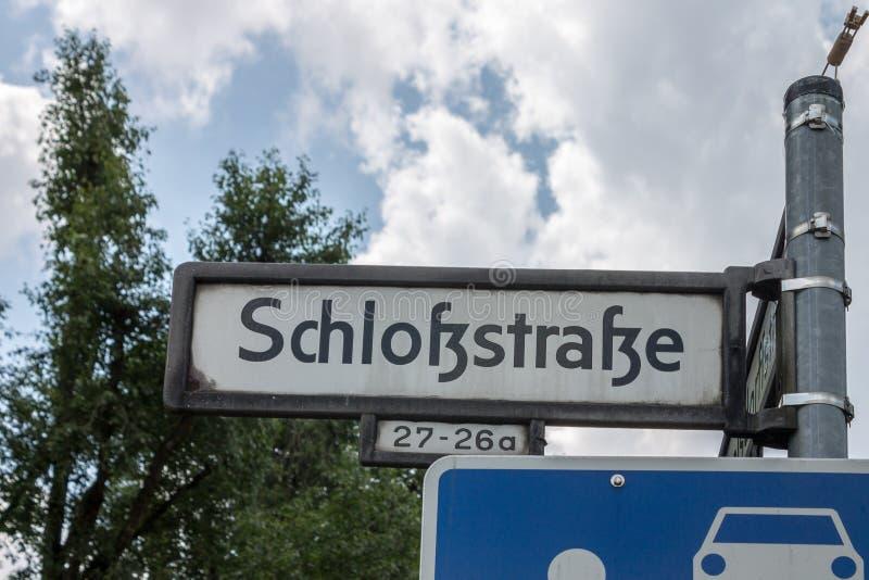 Teken in Berlin Germany royalty-vrije stock afbeelding