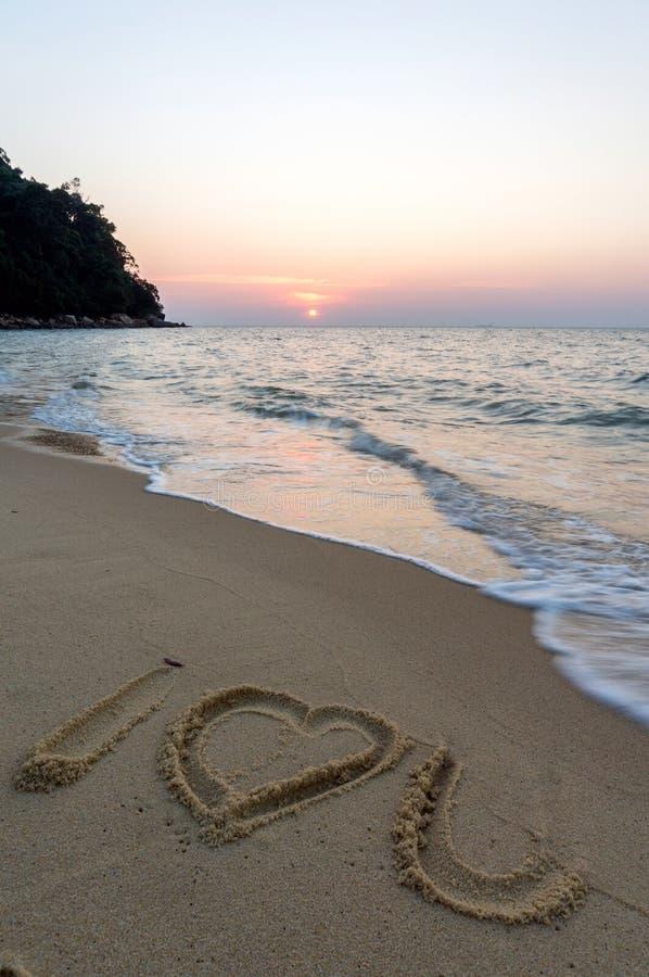Teken bij strand royalty-vrije stock foto