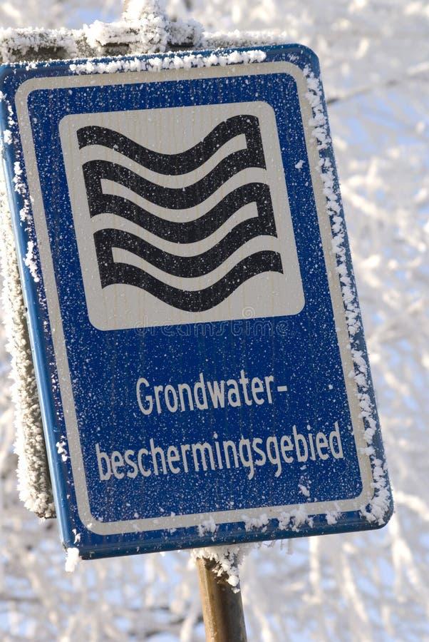 Teken in de winter stock afbeeldingen