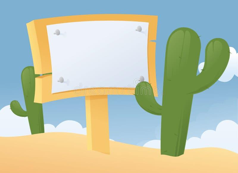Teken in de woestijn royalty-vrije illustratie
