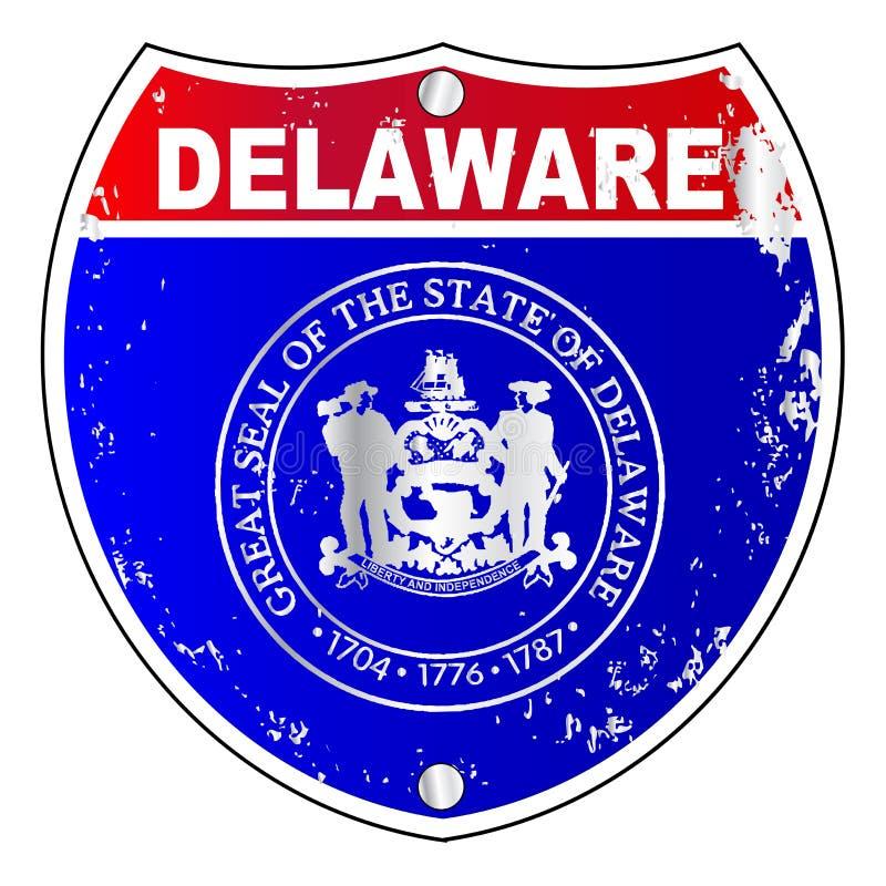 Teken het Tusen staten van Delaware vector illustratie